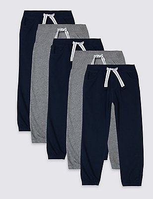 5 Pack Joggers (3 Months - 5 Years), MULTI, catlanding