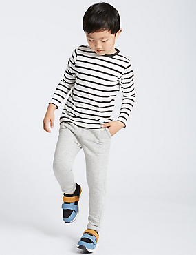Cotton Rich Textured Joggers (3 Months - 6 Years), MULTI, catlanding