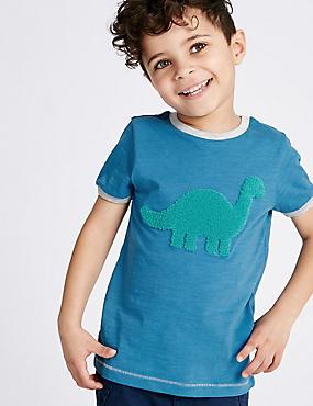 T-shirt 100% coton avec imprimé (du 3mois au 5ans), BLEU ASSORTI, catlanding