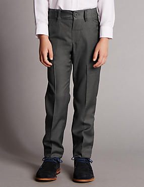 Flat Front Striped Trousers with Supercrease™ (1-10 Years)