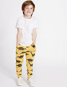 Cotton Rich All Over Print Joggers (3 Months - 5 Years), OCHRE, catlanding