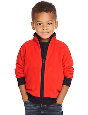 Long Sleeve Zip Through Fleece Top (1-7 Years)