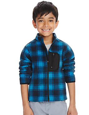Long Sleeve Checked Fleece Top (1-7 Years)