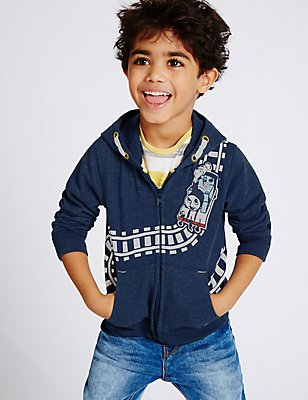 Thomas & Friends™ Hooded Top (1-6 Years), NAVY, catlanding