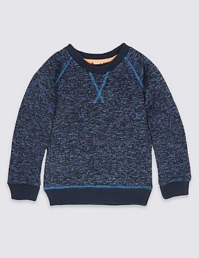 Borg Sweatshirt (3 Months - 6 Years), MULTI, catlanding