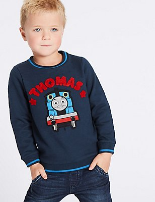 Cotton Rich Sweatshirts (12 Months - 6 Years), BLUE MIX, catlanding