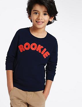 Rookie Sweatshirts (3  Months - 5 Years), GREY MARL, catlanding