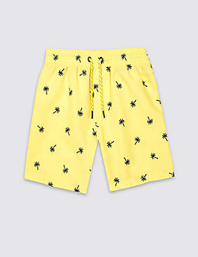 Embroidered Swim Shorts (3 Months - 5 Years), YELLOW, catlanding