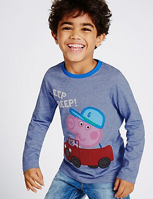 Peppa Pig™ Pure Cotton T-Shirt (1-5 Years), BLUE MIX, catlanding