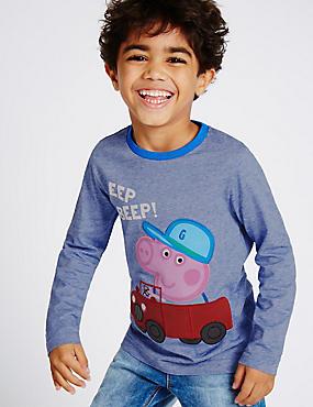 T-shirt 100% coton à motif Peppa Pig™ (du 1 au 5ans), BLEU ASSORTI, catlanding