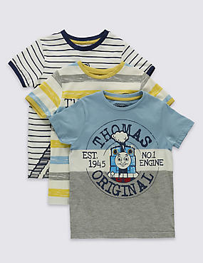 "3er-Pack T-Shirts ""Thomas & Friends™"" (1–6 Jahre), GRAU MELANGE, catlanding"