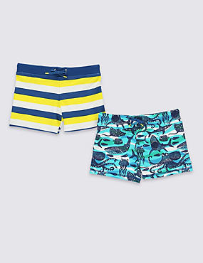 2 Pack Assorted Swim Shorts (1-7 Years)