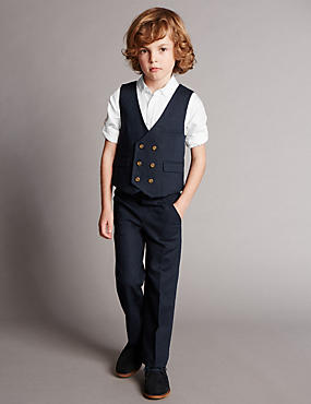 3 Piece Linen Blend Formal Outfit (1-7 Years)