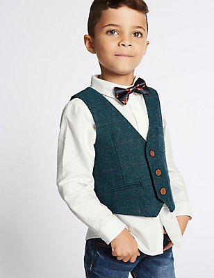 3 Piece Waistcoat & Shirt with Bow Tie (3 Months - 6 Years), MULTI, catlanding