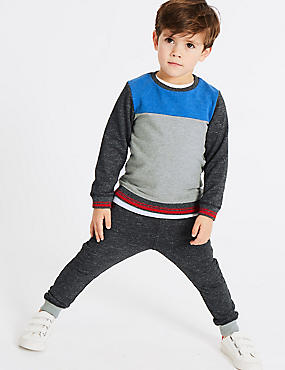 2 Piece Sweatshirt & Joggers Outfit (3 Months - 7 Years), MULTI, catlanding