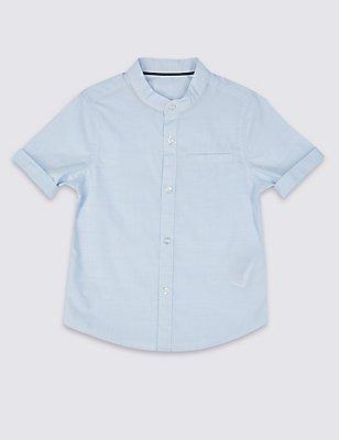 Pure Cotton Shirt (3 Months - 5 Years), BLUE MIX, catlanding
