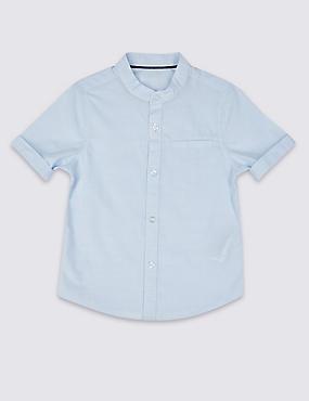 Hemd aus reiner Baumwolle (3 Monate–5 Jahre), BLAU MELANGE, catlanding