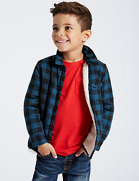 Pure Cotton Checked Shirt (3 Months - 6 Years), MULTI, catlanding