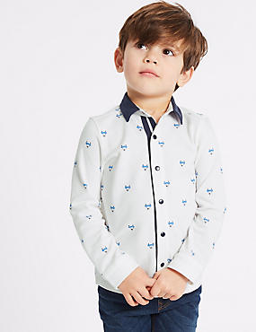 Pure Cotton Jersey Shirt (3 Months - 7 Years), MULTI, catlanding