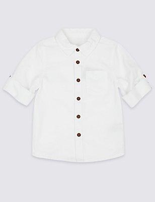 Pure Cotton Shirt (3 Months - 5 Years), WHITE, catlanding