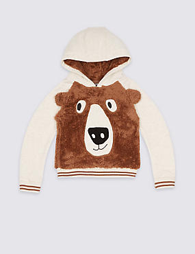 Applique Hooded Sweatshirt (3 Months - 5 Years), WINTER WHITE, catlanding