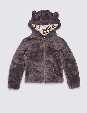 Hooded Long Sleeve Sweatshirt (3 Months - 5 Years), GREY, catlanding