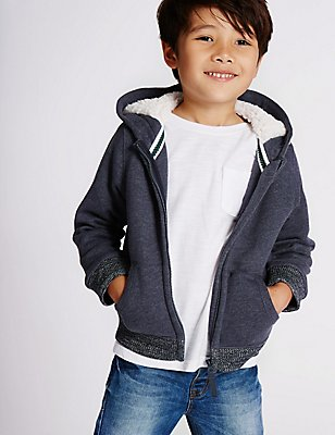 Zipped Sweatshirt (3 Months - 5 Years), NAVY, catlanding
