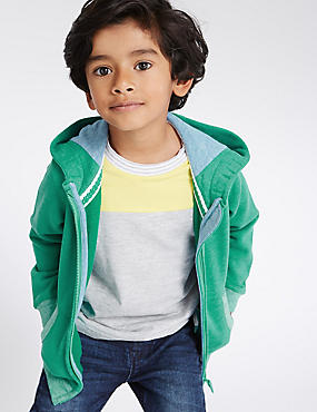 Hooded Sweatshirt (3 Months - 5 Years), GREEN, catlanding