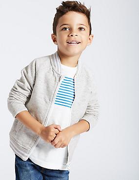 Zipped Sweatshirt (3 Months - 6 Years), BLACK, catlanding