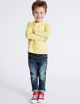 Denim Jeans (3 Months - 5 Years), DARK BLUE DENIM, catlanding