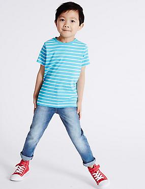 Cotton Rich Jeans (3 Months - 5 Years), MED BLUE DENIM, catlanding
