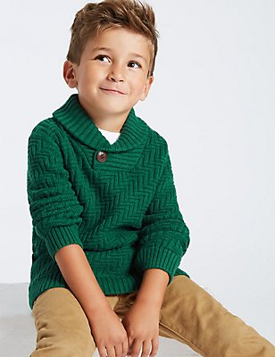 Cotton Rich Jumper (3 Months - 6 Years), Green, catlanding