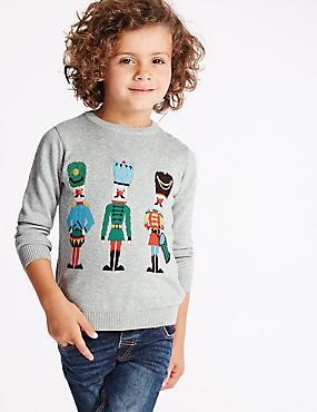 Long Sleeve Soldier Jumper (1-7 Years), GREY MIX, catlanding