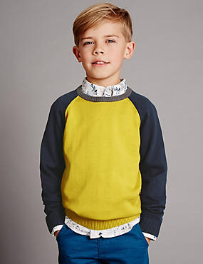 Pure Cotton Long Sleeve Jumper (1-7 Years)
