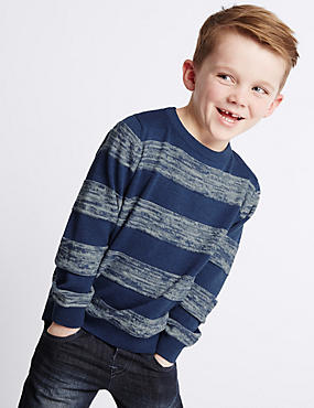 Pure Cotton Striped Knit Jumper (1-7 Years)