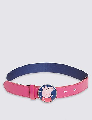 Kids' Peppa Pig™ Buckle Belt, NAVY MIX, catlanding