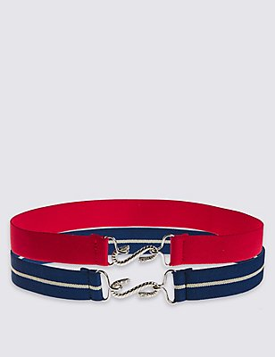 Kids' 2 Pack Hip Belts, RED, catlanding