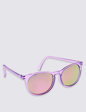 Kids' Keyhole Sunglasses (Older Girls), PURPLE, catlanding