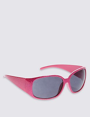 Kids' Glitter Sunglasses (Older Girls), PINK, catlanding