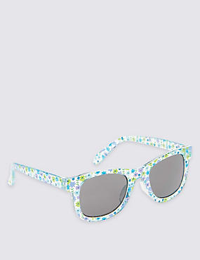 Kids' Ditsy Floral Sunglasses (Younger Girls), TURQUOISE MIX, catlanding