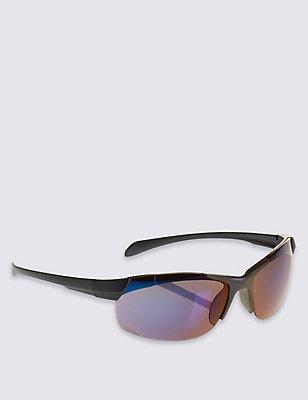 Kids' Sporty Sunglasses (Older Boys), BLUE, catlanding