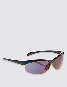 Kids' Sporty Sunglasses (Older Boys), BLUE, catlanding