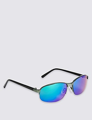 Kids' Metal Frame Sporty Sunglass (Older Boys), BLACK MIX, catlanding