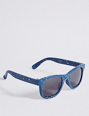 Kids' Paint Spray Sunglasses, BLUE MIX, catlanding