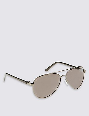 Kids' Aviator Sunglasses (Older Boys), BLACK, catlanding
