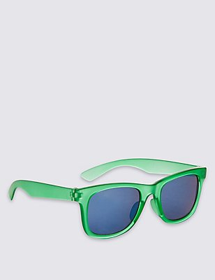 Kids' Colour Block Sunglasses (Older Boys), GREEN, catlanding