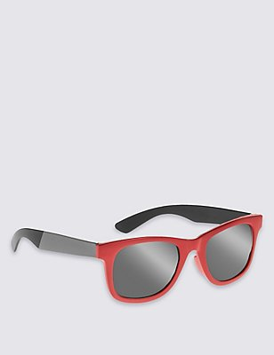 Kids' Retro Sunglasses (Older Boys), RED MIX, catlanding