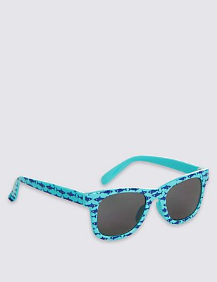 Kids' Printed Sunglasses (Younger Boys), BLUE MIX, catlanding