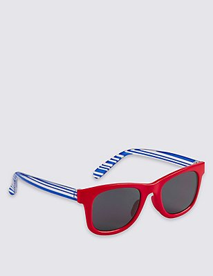 Kids' Striped Sunglasses (Younger Boys), RED MIX, catlanding