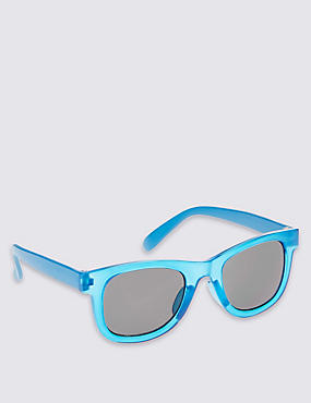 Kids' Colour Block Sunglasses (Younger Boys), BLUE, catlanding
